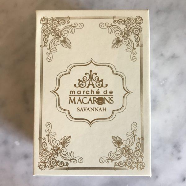 Marche de Macaron Gold Logo Favor Box