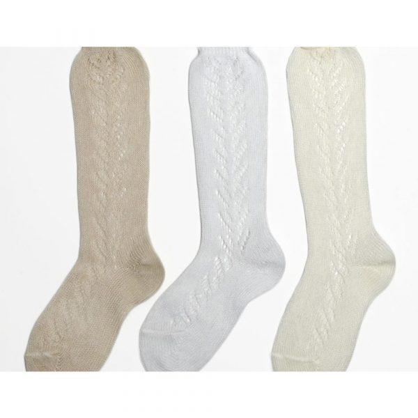 Papouelli Openwork Knee Sock