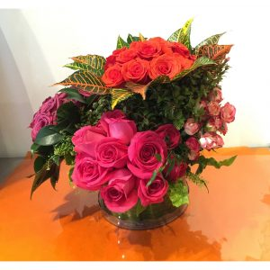 Richard Salome Flowers Tricolor Rose Arrangement