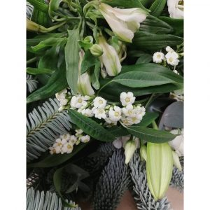 Roots, Fruits and Flowers Winter Whites Hand Tied Flowers