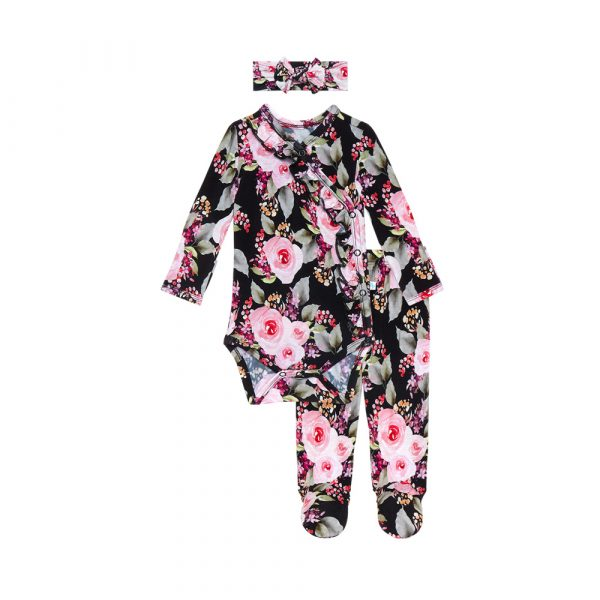 Smoochie Baby Posh Peanut Milana Ruffled Kimono Set