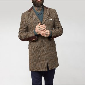 Stumper & Fielding Gibson Tweed-Overcoat-Single-Breasted-'The Firnlee' Brown