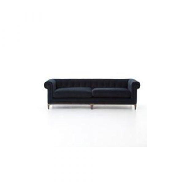 24 E Design Co. Brussels Sofa - Plush Navy
