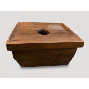 Andrianna Shamaris Antique Natural Teak Wood Coffee Table