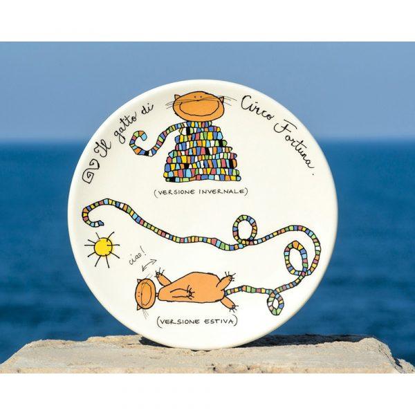 Circo Fortuna Cat Plate Of Circus Fortuna
