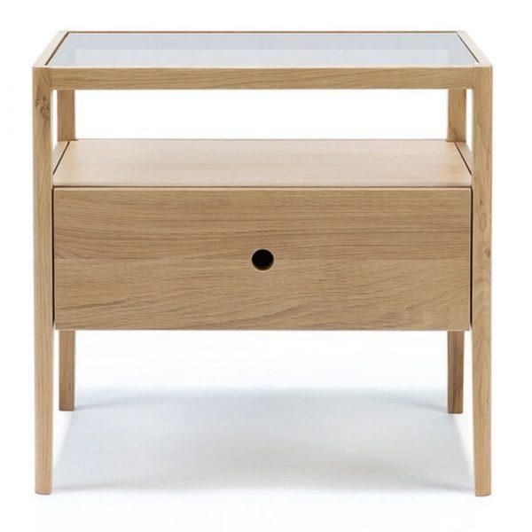 Cite Ethnicraft Oak Spindle Bedside Table