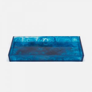 Mecox Gardens Resin Colorful Swirl Trays