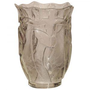 Paul Stamati Gallery Art Deco Glass Vase by Verrerie Degue