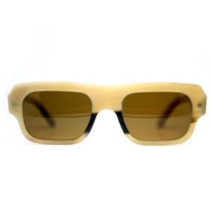 Smith and Norbu Model 102 Light Brown Water Buffalo Horn Sunglasses