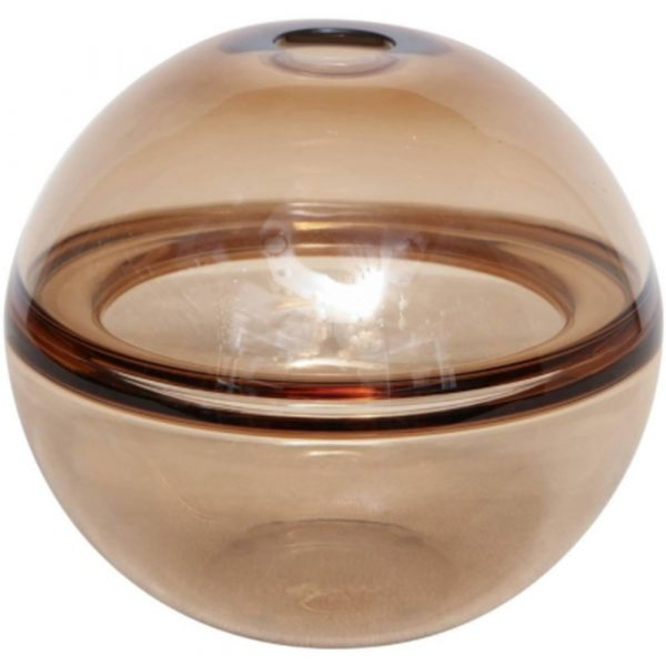 Venfield Signed Crepax Vase In Tobacco Color Murano Glass