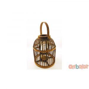 Ambalaz Decorative Wooden Cage-Lantern