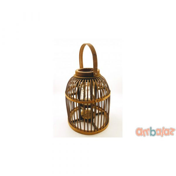 Ambalaz Decorative Wooden Cage-Lantern