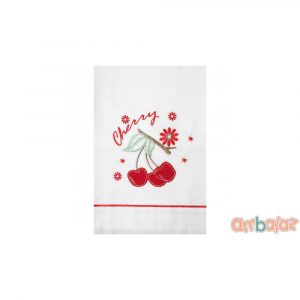Ambalaz Oilcloth White Red Cherries