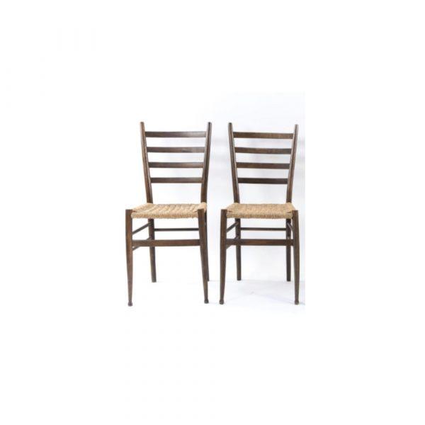 Antony Todd Style Of Gio Ponti Dinning Chairs Set Of 4