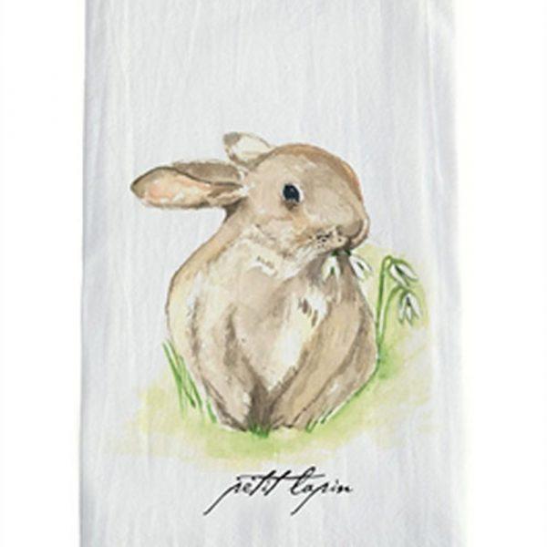 """Aux Belles Choses """"Petit Lapin"""" Towel"""