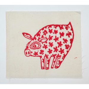 Bas Kosters Studio Pig Patch Red