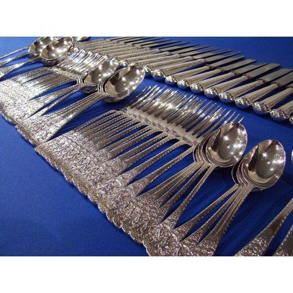 Daniel Bexfield A Rare Victorian Silver 'Neptune' pattern Cutlery Set