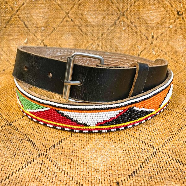 Hemingway African Gallery Maasai Beaded Belt, Kenya