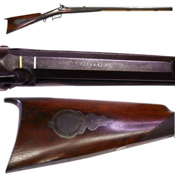 James H. Cohen Antique Weapons E. Woodward Kentucky Style Rifle Circa 1860