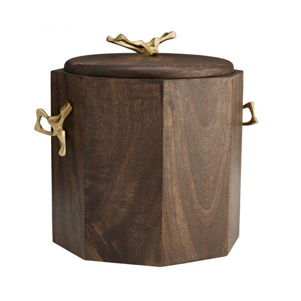 Mitchell Hill Wood + Brass Ice Bucket