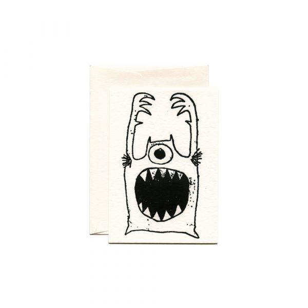 R.S.V.P. Monster Letterpress Card