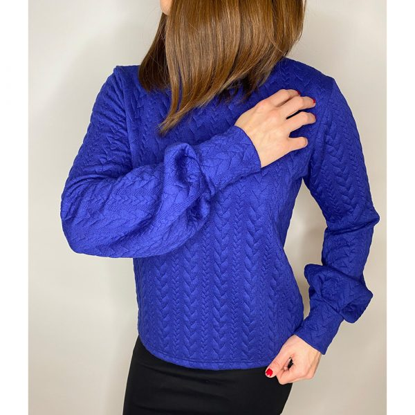 Studio Catta Electric Blue Sweater With Puffy Sleeves